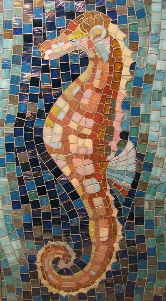 """Мозаичное панно """"Морской конек"""""""