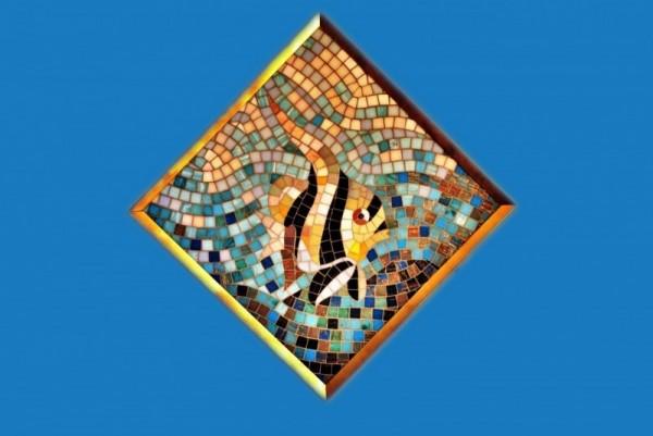 """Мозаичное панно """"Рыбка"""""""