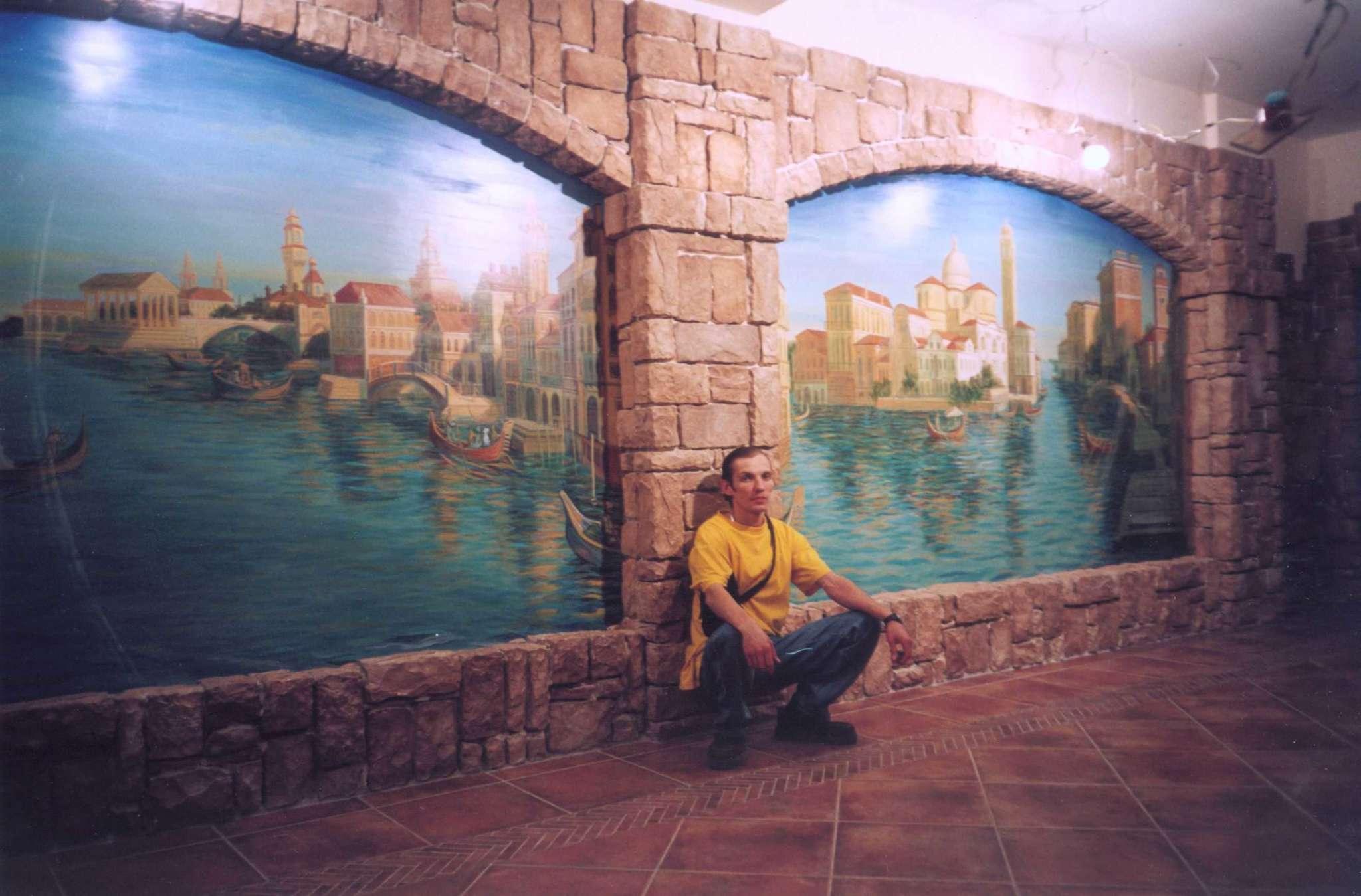 Роспись Венеция в интерьере